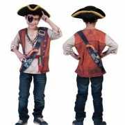 Piraten shirt met 3D opdruk voor kids