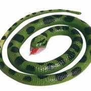 Halloween Rubberen anaconda slang 66 cm