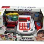 Kassa speelgoed set met boodschappen