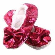 Rode bling pantoffels voor dames