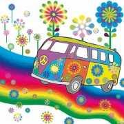 Servetten hippie thema 20 stuks