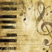 Servetten piano met muzieknoten 20 stuks