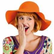 Oranje flaphoed voor dames