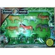 Plastic safari dieren 6 stuks