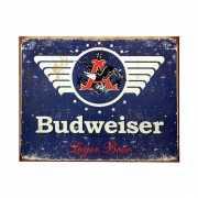Metalen wandplaat Budweiser 41 x 32 cm