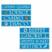 Cruise Ship decoratie borden 4 stuks