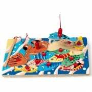Houten vis puzzel met magneet