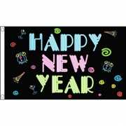 Happy New Year neon vlag
