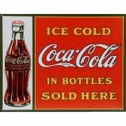 Metalen wandplaat ice cold Coca Cola