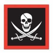 Piraten feest servetten 16 stuks